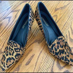 Brand new, never worn animal print heels